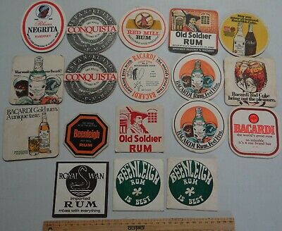 20 x MIXED COLLECTABLE RUM BEER COASTERS / MATS BB5