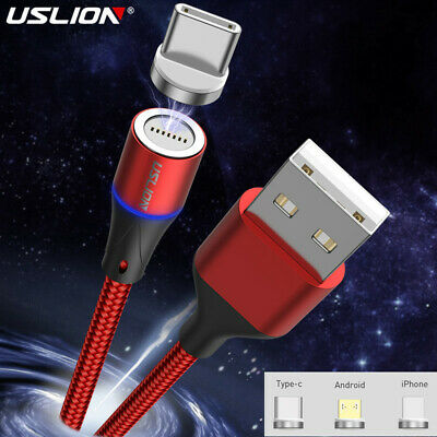 Magnetic Type C Micro USB Fast Charging Data Sync Adapter Cable For Android IOS