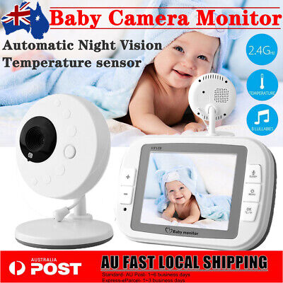 3.5'' LCD Wireless Digital Video Baby Monitor Security Camera Night Vision AU