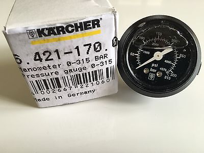 "Genuine Karcher Manometer 0-315 BAR Pressure Gauge HDS 64211700 ""WITH OUT BOX"""
