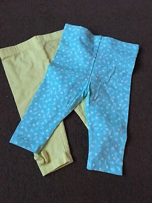 Girls 3-6 Months Next George Leggings Trousers Green S/Nes6