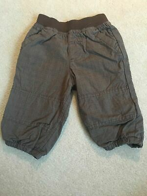 Boys 3-6 Months Brown Lined Soft Feel Trousers S/N01