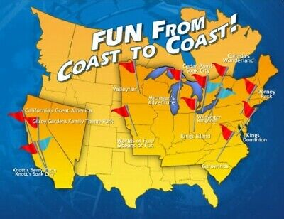 2 Single Day Tickets - Valid For Admission To Any Cedar Fair Park