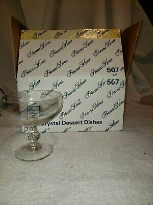 Princess House 507 4 Crystal Dessert Dishes New In Box
