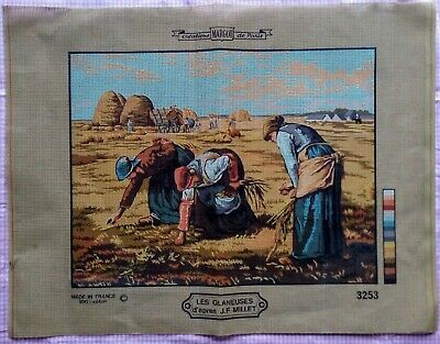 Les Glaneuses J F Millet Margot De Paris Double Thread Canvas Needlepoint Large