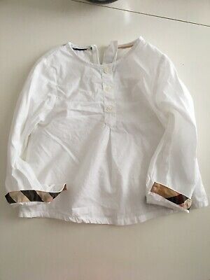 Burberry white shirt for 2 year old please see pictures