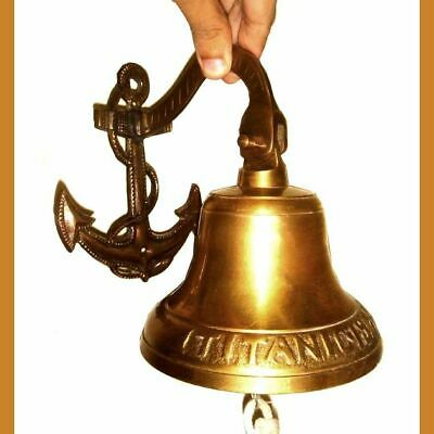 Antiquated Musical Ship Décor 7 Inch Large Titanic 1912 London Brass Bell BB 06