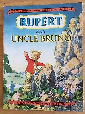 RUPERT Adventure Series 2 Rupert & UNCLE BRUNO SEPTEMBER 1949 FINE EXAMPLE