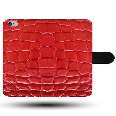 Crocodile Reptile Rouge Protection Motif Effet Tissu Synthétique