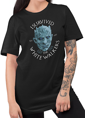 I survived the white walkers- game of thrones season 8 night king fan tshirt