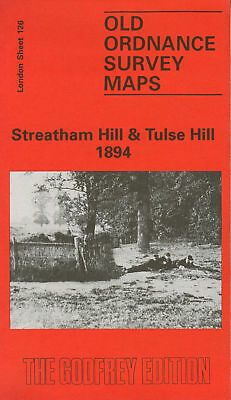 Old Ordnance Survey Map Streatham Hill & Tulse Hill 1894