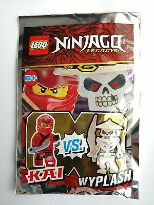Lego Ninjago 111903 Kai Vs Wyplash Mini Figures Children Toy Foil Pack Limited A