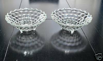 Indiana Glass Whitehall Footed Console Fruit Bowls Set