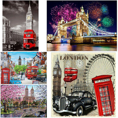 London View DIY 5D Diamond Paint Embroidery Cross Stitch Kit Home Decor Art