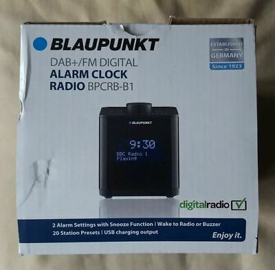 Blaupunkt: DAB/FM Digital Alarm Clock Radio: BPCRB-B1 New