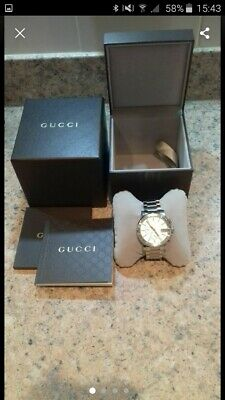 d27c6be1803 MENS GUCCI WATCH   BOX 2000 M BLACK PATTERNED DIAL NEW GUCCI STRAP ...