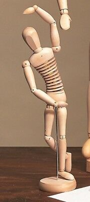 "300mm RRP £15.99 12/"" ARTISTS FEMALE MANIKIN WOOD LAY FIGURE"