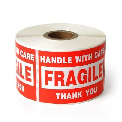 """Fragile 2""""x3"""" Handle With Care Shipping Stickers 500 Labels Per Roll Adhesive"""