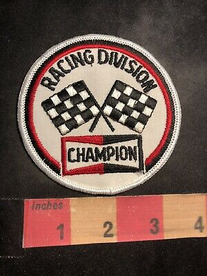 Car Race RACING DIVISION CHAMPION SPARK PLUG Auto Related Advertising Patch 93J7