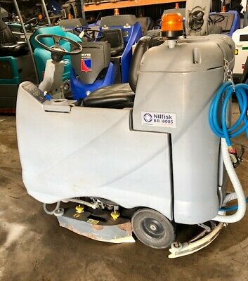 Nilfisk BR800s Ride on Scrubber Dryer