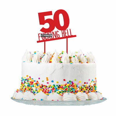 50th Birthday Cake Topper Party Decorations 50 Today For Men & Women 3mm Acrylic
