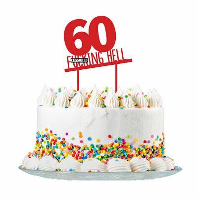 60th Birthday Cake Topper Party Decorations 60 Today For Men & Women 3mm Acrylic