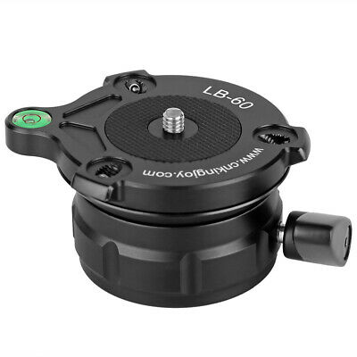 """Camera Tripod Leveling Head Base with Bubble Level with 1/4"""" Thread Professional"""