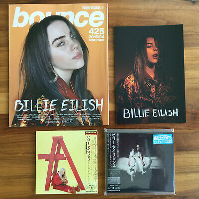2 JAPAN CDs +FLYER+ MAG! BILLIE EILISH WHEN WE ALL FALL ASLEEP+DON'T SMILE AT ME