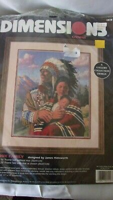 Dimensions Crewel Kit Sioux Family by James Himsworth A Gallery Collection Desig