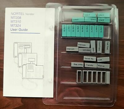 Nortel Norstar M7208 M7310 M7324 Phone System User Guide And Button Covers