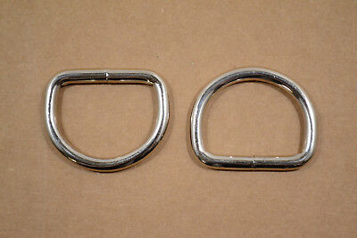 """Dee Ring - 1 3/4"""" Nickel Plated - Heavy Weight - Wire Welded - Pack of 24 (F411)"""