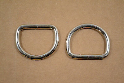 """Dee Ring - 1 3/4"""" Nickel Plated - Heavy Weight - Wire Welded - Pack of 6 (F410)"""