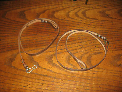 2 military brown leather pistol lanyard Russian makarov nos