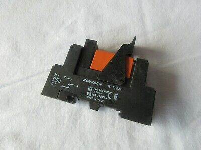 5 x Relay Sockets Schrack RT78624  with relays
