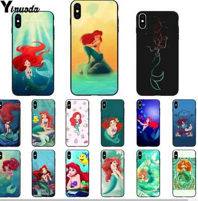 COVER IPHONE 7 8 Sirenetta Custodia Silicone Morbida Principesse