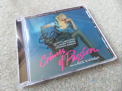 Rick Wakeman - Crimes Of Passion 11 Track **SIGNED** 2017 Movie Soundtrack CD