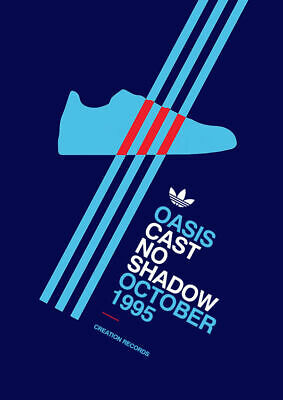 A3/A4 - Oasis cast 1995 ADIDAS CASUALS TRAINERS Advert Avertisements Posters
