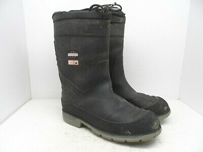 "Aggressor Men's 13"" Rubber Insulated Steel Toe Work Boots 5ANEAG2-9500 Black 9M"