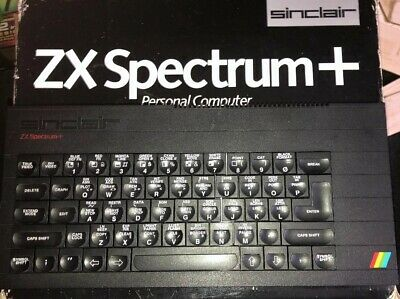 Sinclair ZX Spectrum Plus 48k With Box, Power Supply, Leads. New Caps