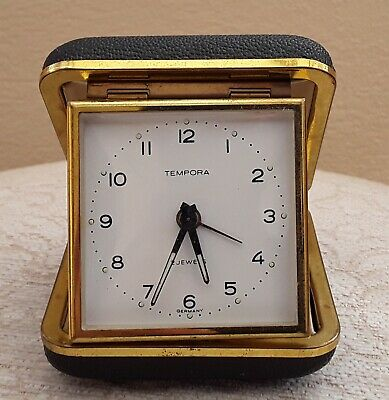 Tempora vintage wind-up folding travel alarm clock