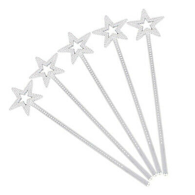 24pcs Star Magic Wand Girls Costume Props for Wedding Christmas Party Cosplay
