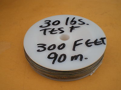 60 lbs STAINLESS STEEL WIRE LEADER 300 FEET TEST 1X7 STRAND-COATED-CLEAR 90m.