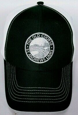 5aea900f69e50 The Old Course St Andrews Links Golf Course Men's Cap Hat Strapback Black  White