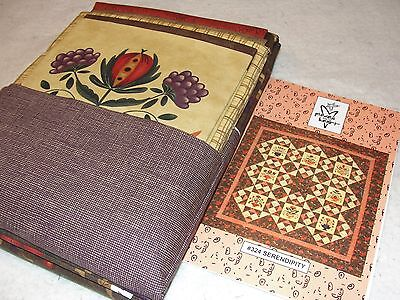 """SERENDIPITY Quilt Kit Featuring Moda Collection Pieces From Heart 72x72"""""""