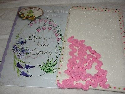 SPRING HAS SPRUNG Embroidery Mini Framed Quilt Kit Crabapple Hill 9.5x11""