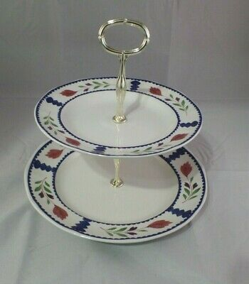 Adams LANCASTER English Ironstone  2 tier serving dish cookies, candy horderves