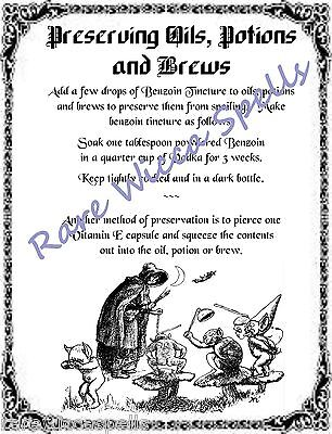 MAGICK RECIPE LAVENDER Bath Potion for Wicca Spell Book of