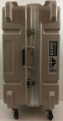 Fiberglass Shipping/Carry Case w/Swivel Casters, Large EXCELLENT CONDITION