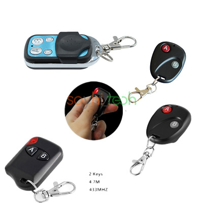 Wireless 315MHz/433MHz 2/4Buttons RF Remote Control Garage Gate Door Transmitter