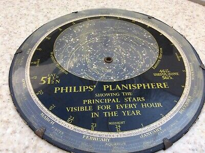 VINTAGE PHILIPS PLANISPHERE Showing principle stars